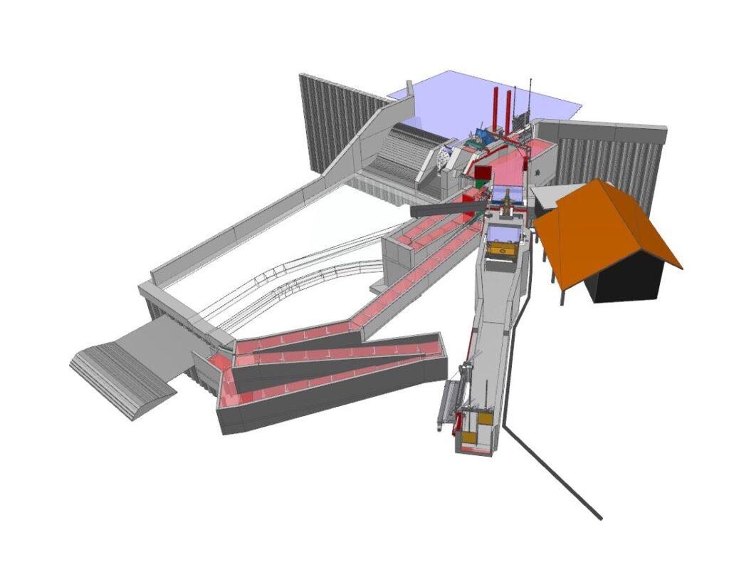 BIM Modell Zindel Maienfeld Kraftwerk Flums