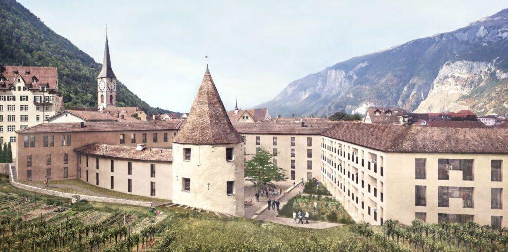 Siegerprojekt KONTINUUM für den Sennhof Chur