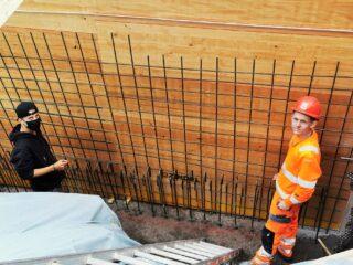 Lehrlingsprojekt Stützmauer Malix, Lernstatt Känguruh